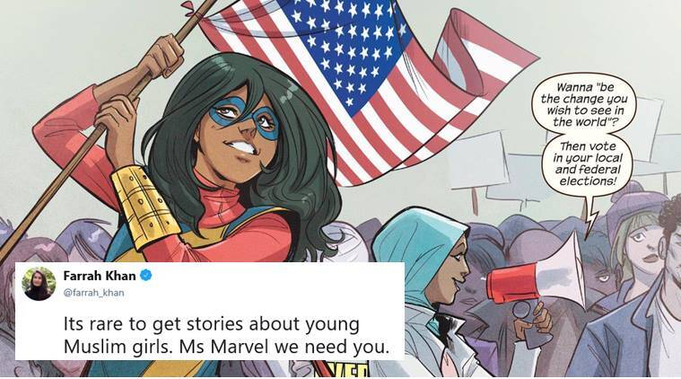 Ms Marvel first made appearence in 2013 and then went onto become the first Muslim lead character in a Marvel comics
