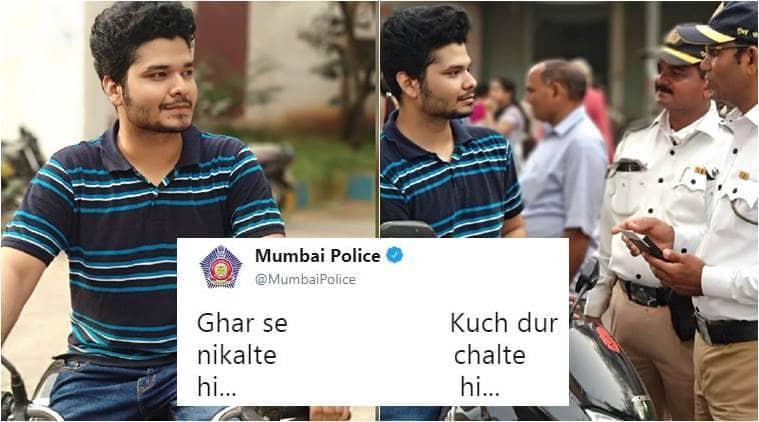 mumbai police, mumbai police tweets, mumbai police memes, mumbai police ghar se nikal te hi memes, mumbai police funny tweets, indian express, indian express news