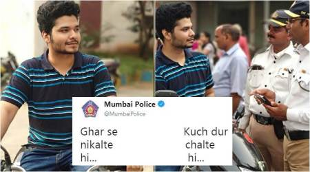 Mumbai Police's Twitter team joins the 'Ghar se nikalte hi' meme-fest with their latest