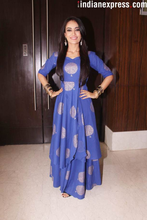 surbhi jyoti at Naagin 3 launch