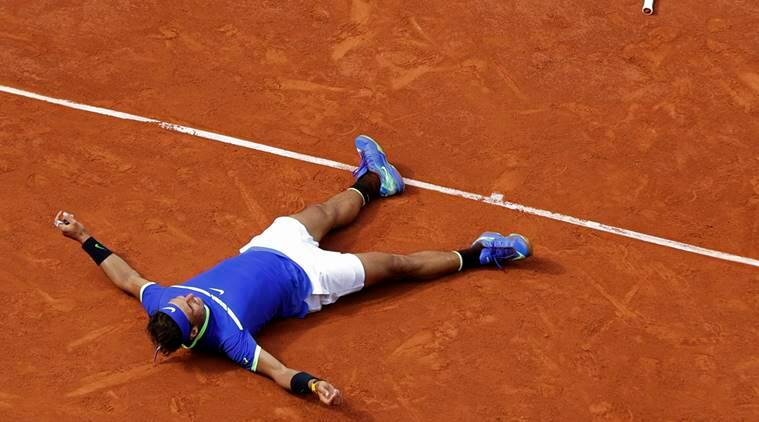 Rafa Nadal after winning the 2017 French Open