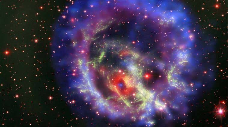 NASA, neutron star discovery, NASA Chandra X-ray telescope, supernova, ESO Very Large Telescope, radio emissions, Milky Way, gas rings, Small Magellanic Cloud, X-ray radiation