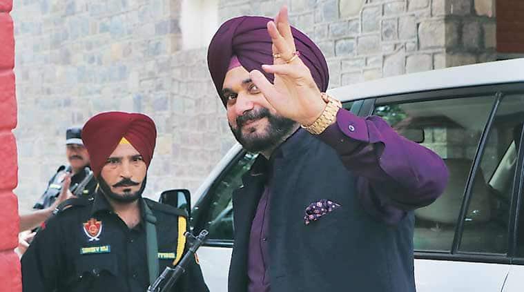 Navjot Singh Sidhu in Chandigarh on Tuesday. (Photo: Kamleshwar Singh)
