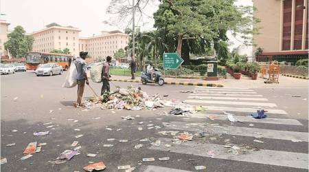 Demanding jobs, NDMC staff dump garbage in Lutyens' zone