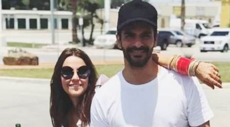 Neha Dhupia and Angad Bedi are making the most out of their work trip to theUS