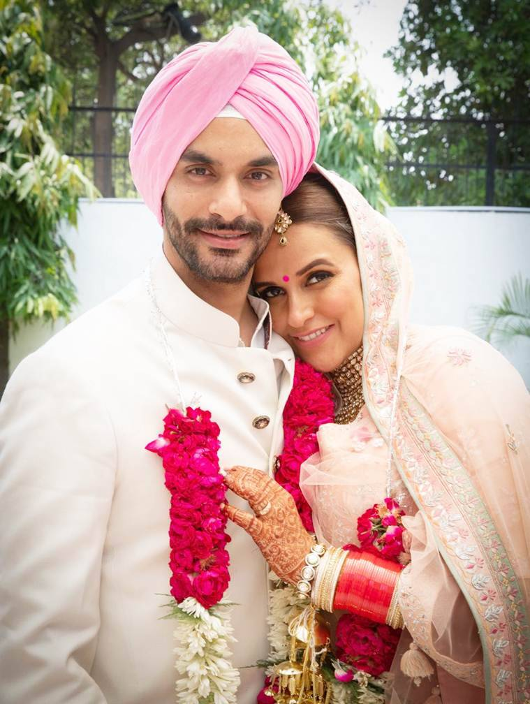 neha dhupia and angad bedi had hush hush wedding