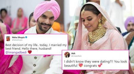 Neha Dhupia-Angad Bedis secret marriage: Bollywood is SHOCKED, so are Twitterati