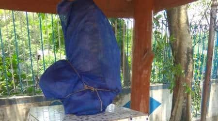 Kolkata: Netaji bust vandalised in Narkeldangaarea