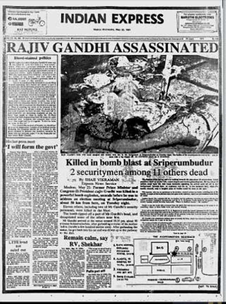 rajiv gandhi, rajiv gandhi death anniversary, remembering rajiv gandhi, rajiv gandhi 27th death anniversary, Rajiv gandhi news, India news, Indian Express