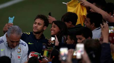 Fans invade training ground to watch Brazil train ahead of World Cup