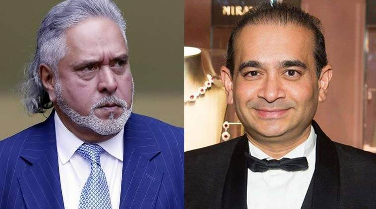 Industrialist Vijay Mallya and diamond merchant Nirav Modi.