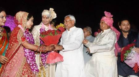 First time since alliance split, Lalu Yadav, Nitish Kumar share dais