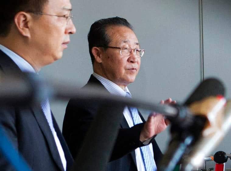 north korea, kim jong un, korean diplomats, north korea us summit, kim kye gwan, cheo son hui, indian express