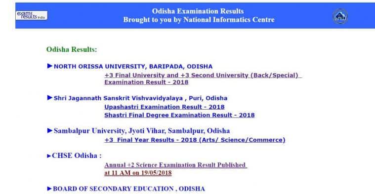 odisha results, odisharesults.nic.in, odisha +3 results, NOU Odisha results