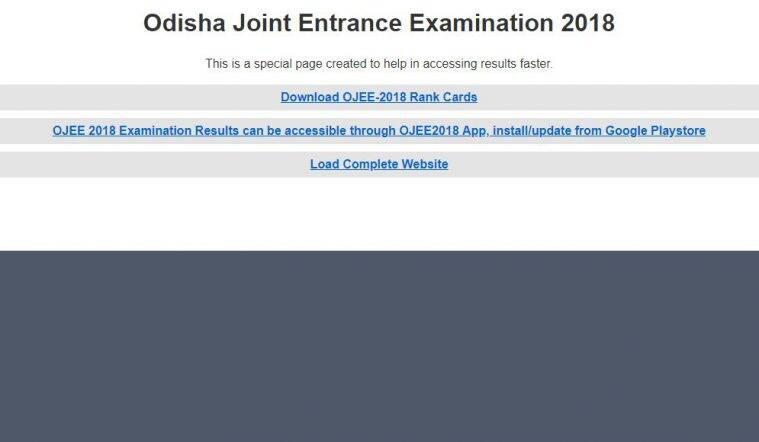 Odisha JEE result, OJEE 2018 result, JEE 2018 result