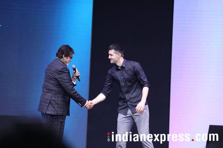 Amitabh Bachchan and Kyle Kiang at OnePlus 6 launch