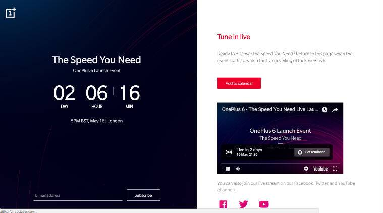 OnePlus 6, OnePlus 6 price, OnePlus 6 price in India 2018, OnePlus 6 Amazon In, OnePlus 6 livestream, OnePlus 6 how to watch live, OnePlus 6 launch in London, OnePlus 6 May 16 London launch, OnePlus 6 India launch, OnePlus 6 price in India, OnePlus 6 specifications, OnePlus 6 launch in Mumbai