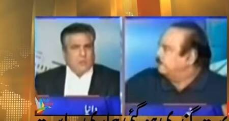 Pakistan minister Daniyal Aziz slapped by Imran's party leader Naeemul Haque