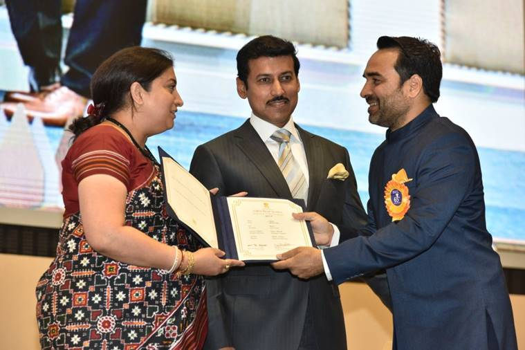 Pankaj Tripathi at the National Film Awards 2018