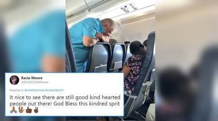 Old man's sweet gesture for a fussy 2-year-old girl on a flight will melt your heart