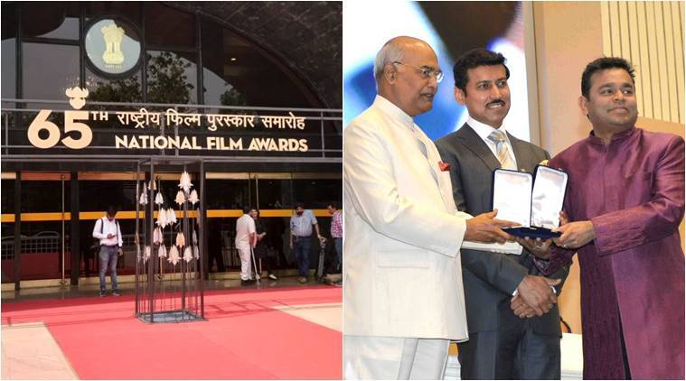 Image result for President Ram Nath Kovind th presents 65 National Film Awards