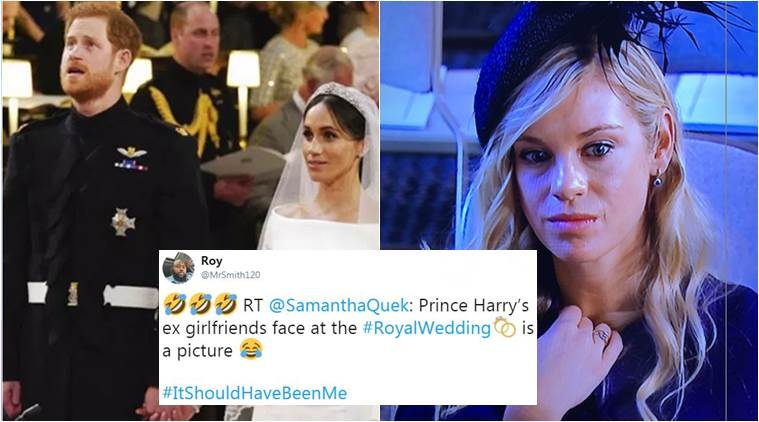 Prince Harry Ex Girlfriend Wedding.Royal Wedding 2018 Prince Harry S Ex Girlfriend S Expression Takes