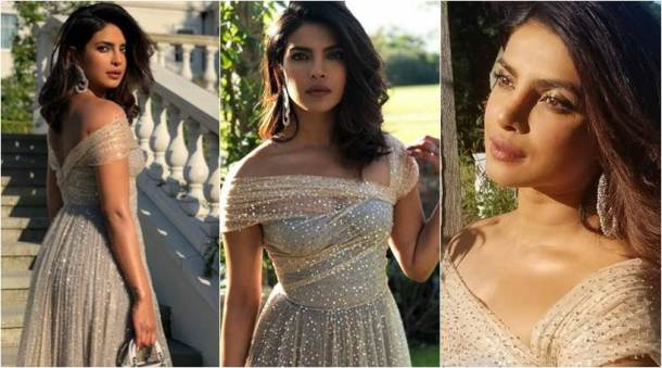 priyanka chopra at meghan markle and prince harry reception