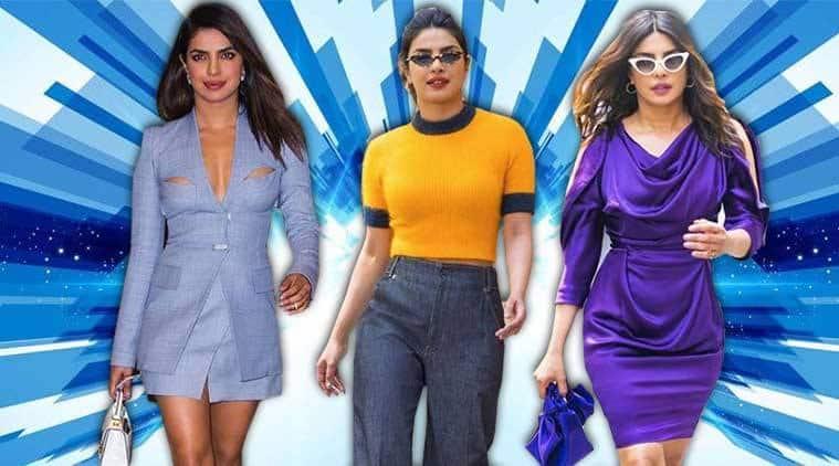 Priyanka Chopra, Priyanka Chopra latest photos, Priyanka Chopra fashion, Priyanka Chopra Dion Lee, Priyanka Chopra lingerie blazer dress, Priyanka Chopra street style, Priyanka Chopra bold colours, Priyanka Chopra Vivviene Westwood, indian express, indian express news