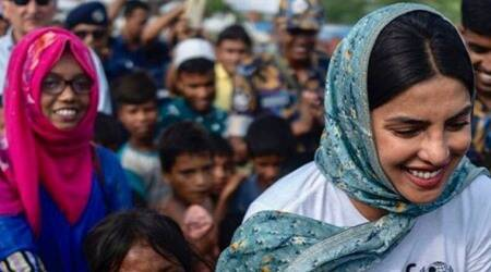 Priyanka Chopra visits Rohingya refugee camps in Bangladesh, appeals to fans to support their children