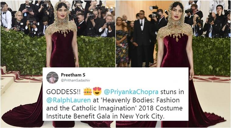 priyanka chopra, priyanka chopra met gala 2018. priyanka chopra ralph lauren, priyanka chopra ralph lauren dress, priyanka chopra photos, priyanka chopra met gala 2018, Indian express, Indian express news