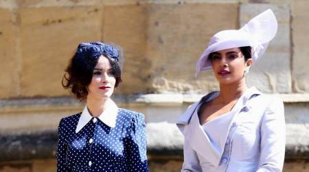 Royal Wedding 2018: Priyanka Chopra exudes royalty in a lilac ensemble; don't miss her statement hat
