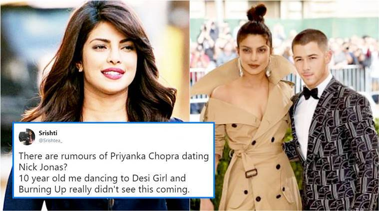 Priyanka Chopra dating Nick Jonas, Priyanka Chopra boyfriend, who is PC dating, PC dating Nick Jonas, who is nick Jonas, twitter buzz Priyanka chopra, indian express, indian express news