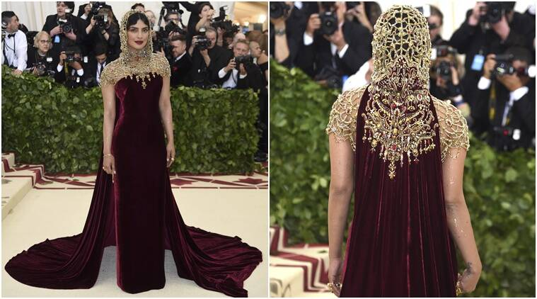 priyanka chopra, priyanka chopra met gala, priyanka chopra met gala appearance, priyanka chopra ralph lauren, priyanka chopra red carpet, indian express, indian express news
