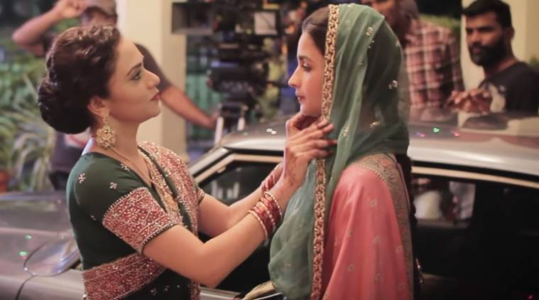 Amruta Khanvilkar and Alia Bhatt in Raazi