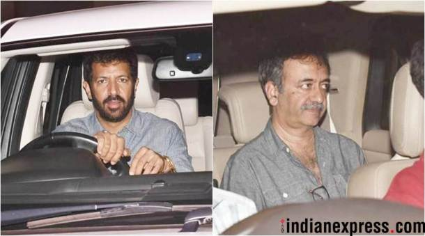 kabir khan and rajkumar hirani at raazi premiere