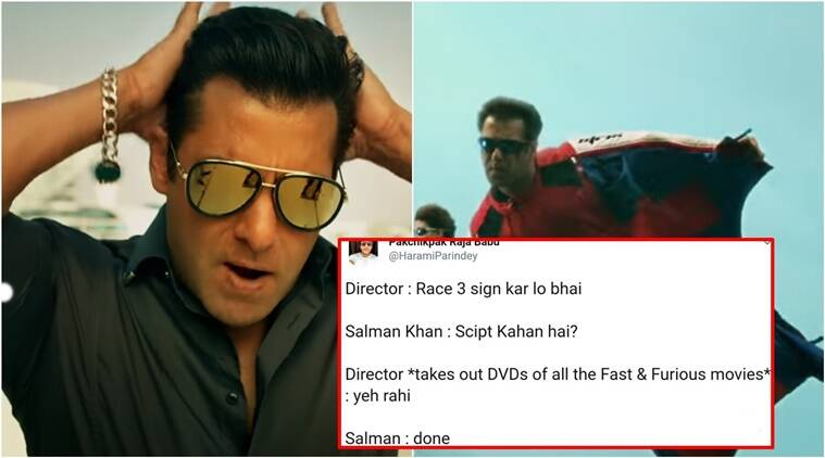 Race 3. Race 3 trailer, Race 3 salman Khan, Race 3 trailer Salman Khan, Salman Khan in Race 3, Race 3 Twitter reactions, Race 3 Trailer Twitter reactions, Indian Express, Indian Express News
