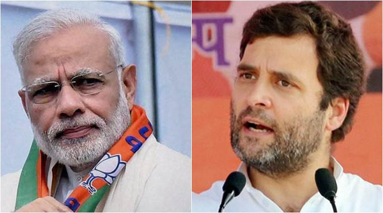 Prime Minister Narendra Modi and Congress chief Rahul Gandhi.