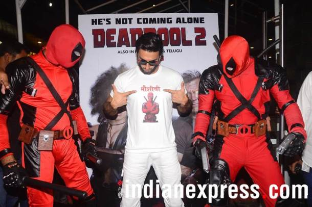 ranveer singh deedpool 2 screening photos
