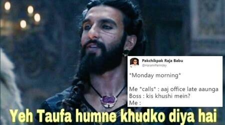 This scene from Padmaavat starring Ranveer Singh's Allaudin Khilji has become a HILARIOUS meme on Twitter