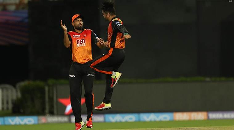 ipl 2018, Rashid Khan, Kane Williamson, Rashid Khan kkr, srh vs kkr, kkr vs srh, sunrisers hyderabad, ipl qualifiers, cricket news, indian express