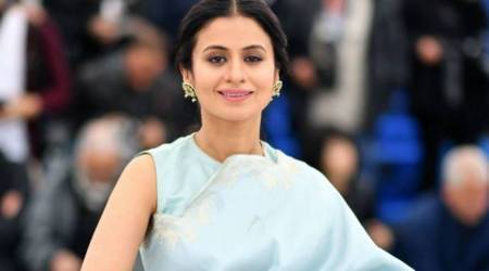 rasika dugal at cannes for manto premiere