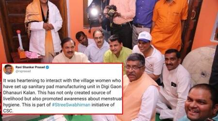 Do you find anything wrong with this pic that Ravi Shankar Prasad tweeted? A lot of Netizens do