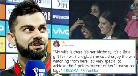 IPL 2018: As RCB wins the match against MI, Twitterati drool over Virat's 'birthday gift' for Anushka