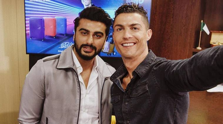 Arjun Kapoor and Cristiano Ronaldo in a picture posted by the Bollywood actor