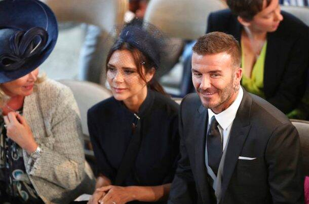 david beckham and victoria beckham at meghan markle and prince harry wedding