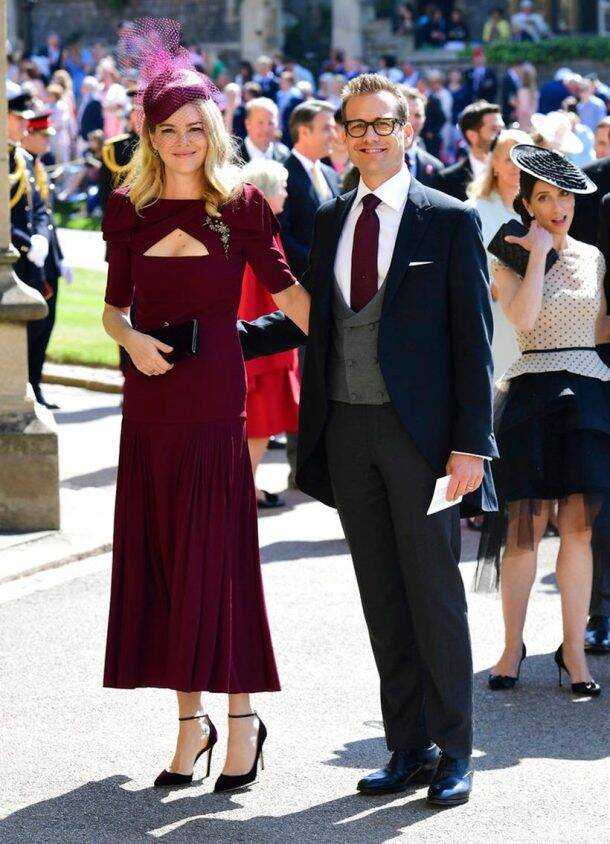 Gabriel Macht and wife Jacinda Barrett at royal wedding