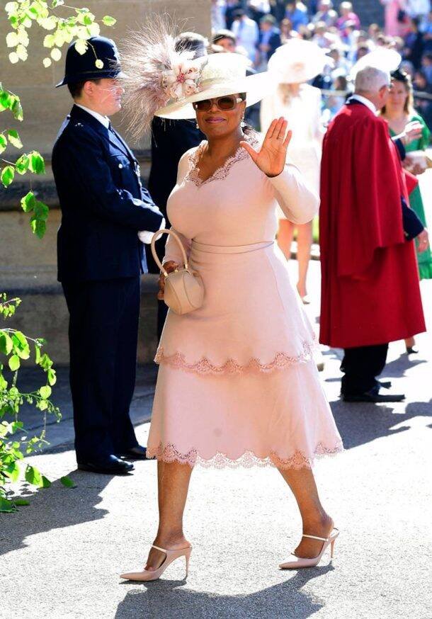 Oprah Winfrey at Meghan Markle and Prince Harry wedding