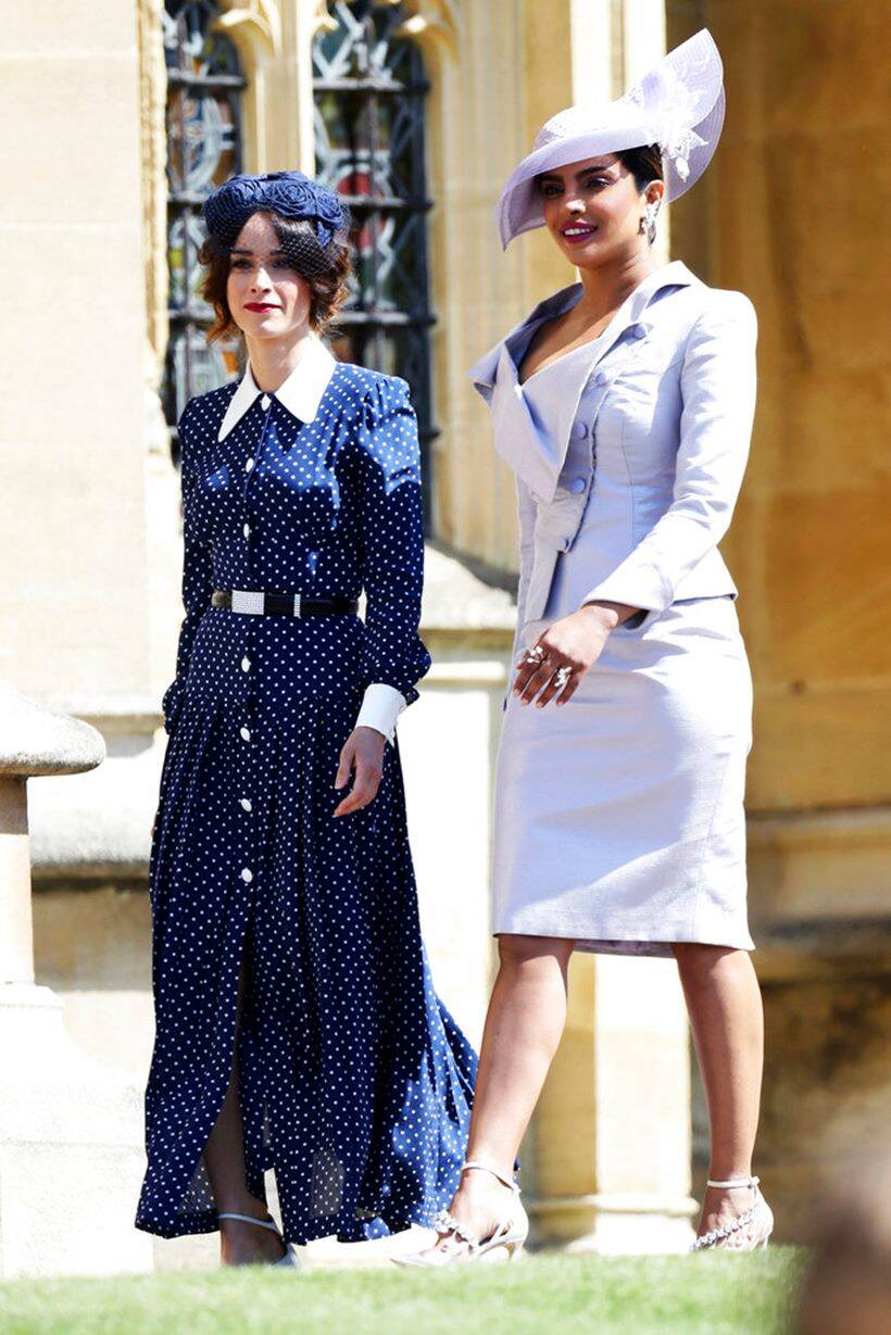 Abigail Spencer and Priyanka Chopra at Royal Wedding of Meghan Markle and Prince Harry