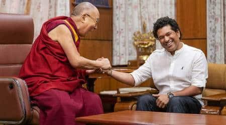 Sachin Tendulkar meets Dalai Lama atMcLeodganj