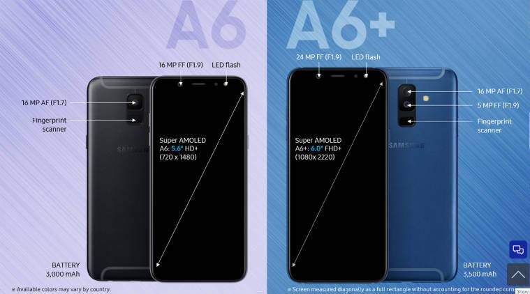samsung galaxy a6 galaxy a6 plus listed on official. Black Bedroom Furniture Sets. Home Design Ideas